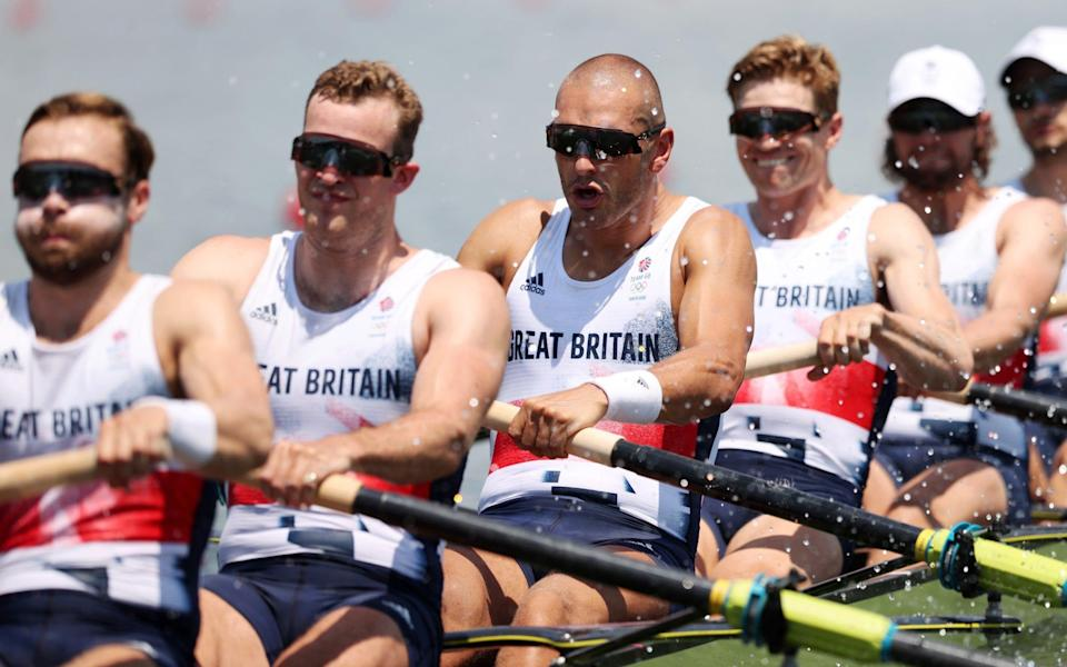 Great Britain's Men's Eight competing at Tokyo - GETTY IMAGES ASIAPAC