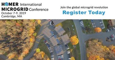 Join us at the HOMER International Microgrid Conference October 7-9, 2019 in Cambridge, MA at the Hyatt Regency! Book your hotel before September 16th when hotel discounts expire.