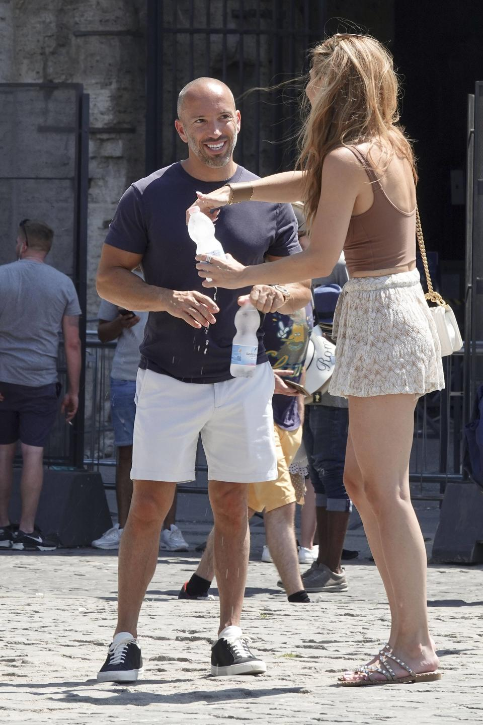 Chrishell Stause and Jason Oppenheim visit the Colosseum and the Roman Forum in Rome, Italy. - Credit: professor sorcio/MEGA