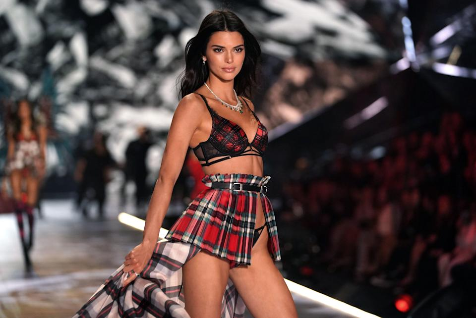Kendall Jenner walks the runway at the 2018 Victoria's Secret Fashion Show on Nov. 8. (Photo: Timothy A Clary/AFP/Getty Images)