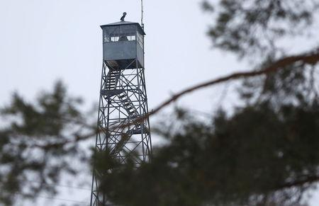 A watch tower is manned at the Malheur National Wildlife Refuge near Burns