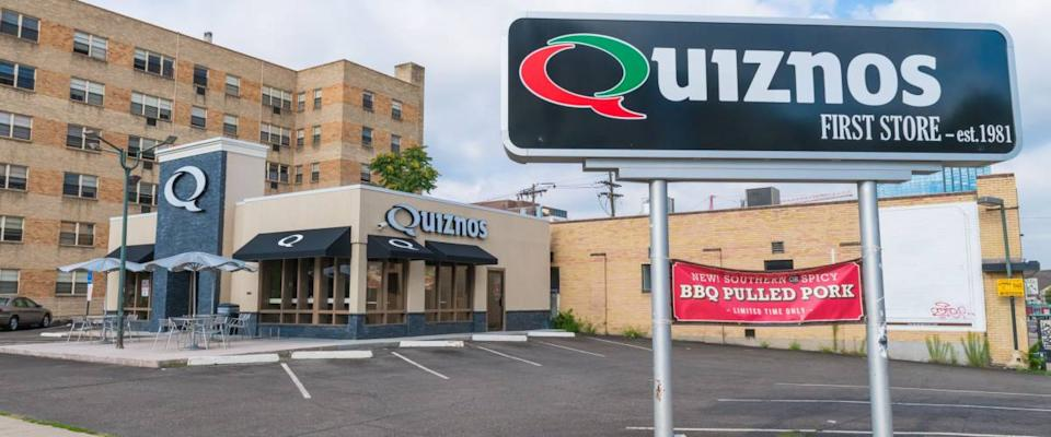 Denver, USA - July 27th, 2014: The Quiznos  chain was founded in 1981 by Jimmy Lambatos
