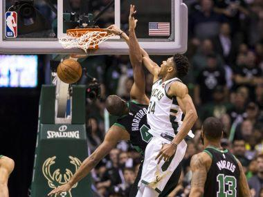 NBA Playoffs: Giannis Antetokounmpo helps Bucks edge Celtics to level series; Spurs down Warriors to stay alive
