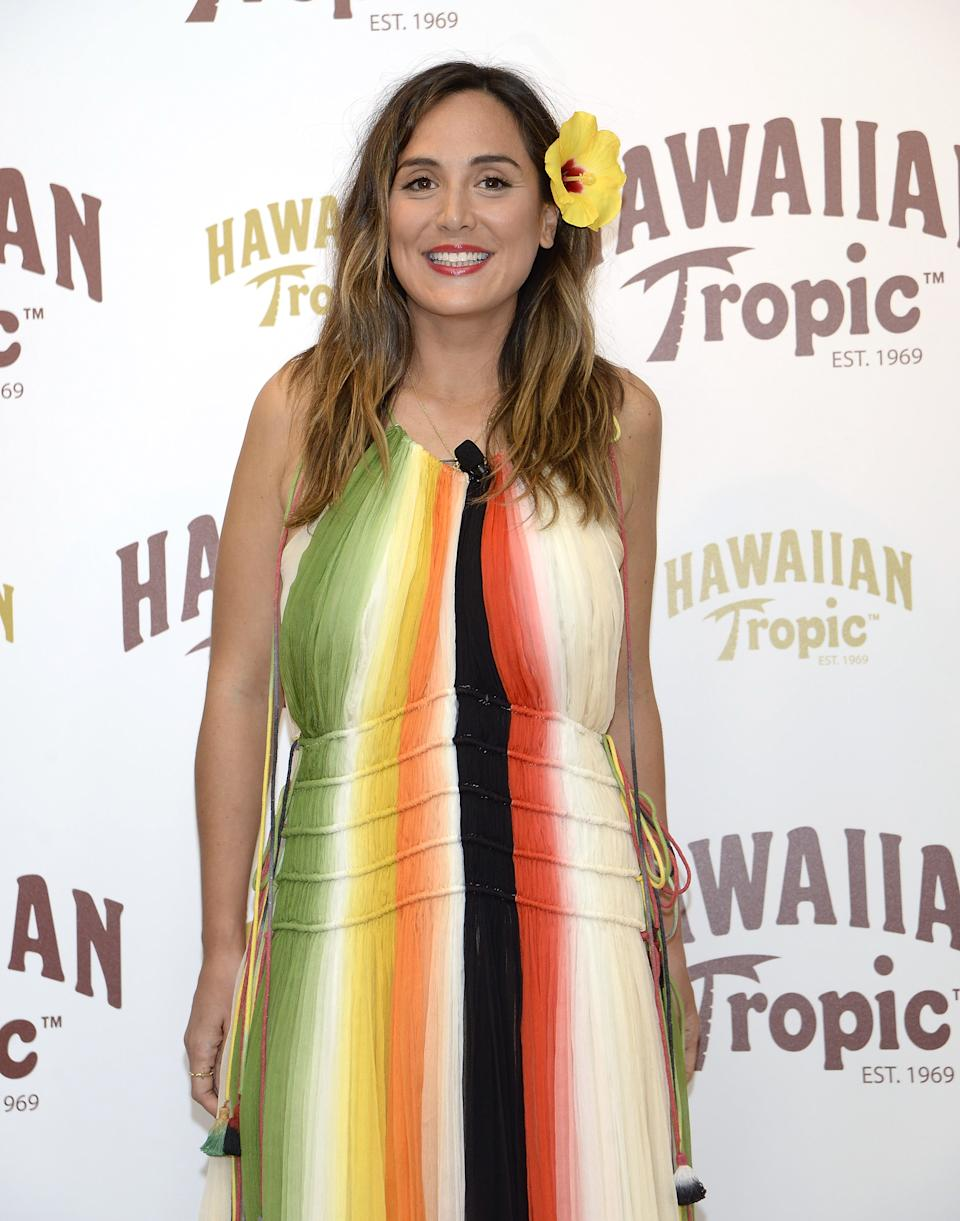 MADRID, SPAIN - MAY 12:  Tamara Falco presents the new Hawaiian Tropic products at Como on May 12, 2016 in Madrid, Spain.  (Photo by Fotonoticias/WireImage)