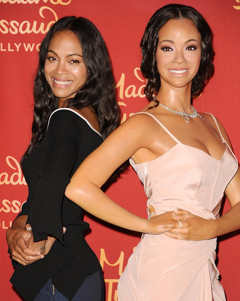 <p>The Guardians of the Galaxy star's new twin is an out-of-this-world beauty — just like her.</p>