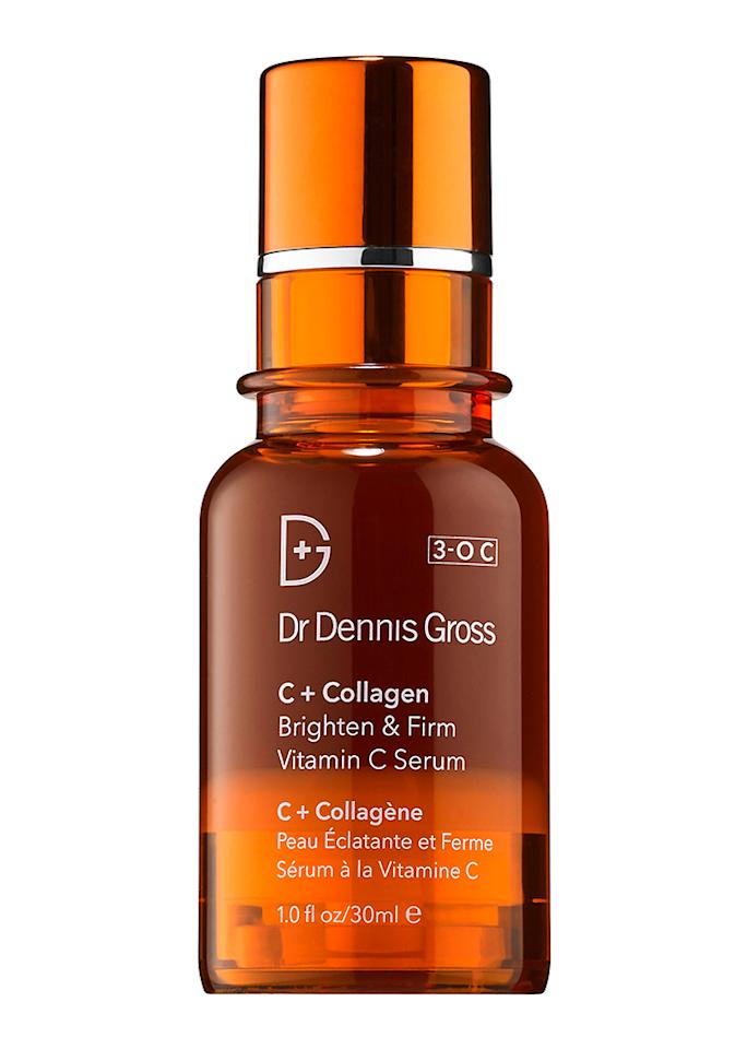 "Dr. Dennis Gross Skincare C+ Collagen Brighten & Firm Vitamin C Serum, $78; at <a rel=""nofollow"" href=""http://drdennisgross.com/c-collagen-brighten-firm-vitamin-c-serum.html"">Dr. Dennis Gross</a>"