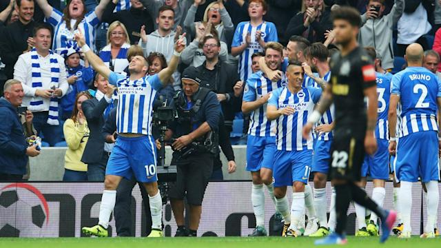 Tomer Hemed was the hero as Brighton earned their second Premier League win of the season against Newcastle United.