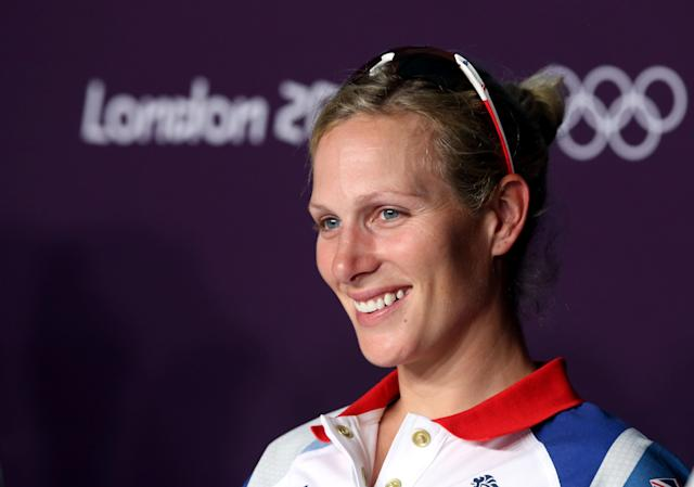 LONDON, ENGLAND - JULY 26: Zara Phillips of Great Britain speaks during an Equestrian press conference ahead of the London 2012 Olympics at Greenwich Park on July 26, 2012 in London, England. (Photo by Jeff Gross/Getty Images)