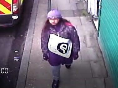 A CCTV still showing Sudesh Amman on his way to commit the Streatham terror attack on 2 February 2020 (Metropolitan Police)