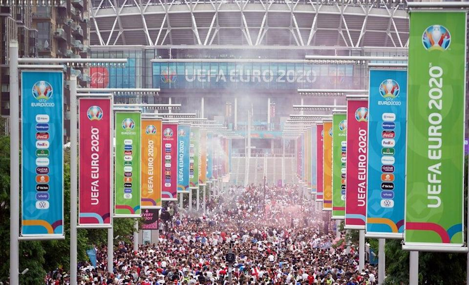 UEFA is investigating the chaos surrounding the Euro 2020 final at Wembley (Zac Goodwin/PA). (PA Wire)
