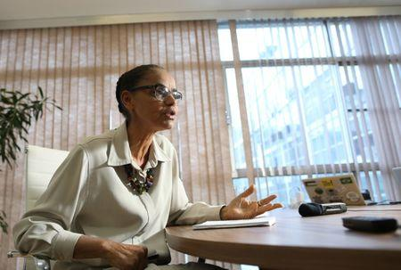 FILE PHOTO - Environmentalist Marina Silva attends an interview with Reuters in Brasilia, Brazil February 7, 2018. REUTERS/Adriano Machado