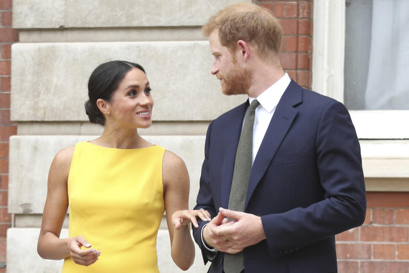 August 4th 2020 - Duchess Meghan of Sussex celebrates her 39th birthday. She was born Rachel Meghan Markle in Los Angeles, California on August 4th 1981. - File Photo by: zz/KGC-375/STAR MAX/IPx 2018 7/5/18 Prince Harry The Duke of Sussex and Meghan Markle The Duchess of Sussex attend the Your Commonwealth Youth Challenge reception at Marlborough House. (London, England, UK)