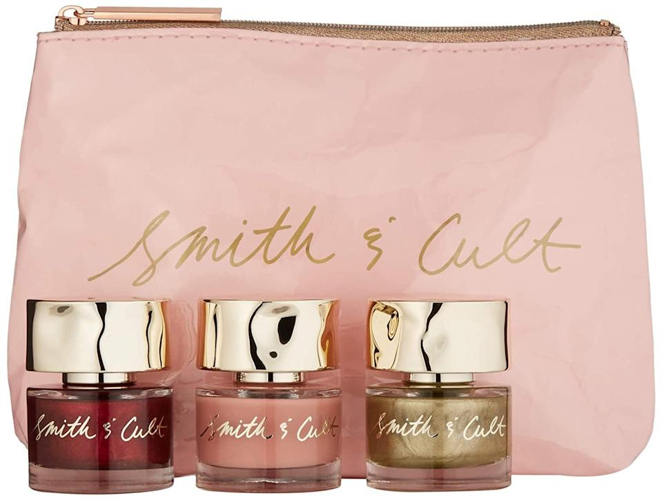 <p>Get the perfect luxe manicure with the <span>Smith &amp; Cult Holiday Gift Set</span> ($36).</p>