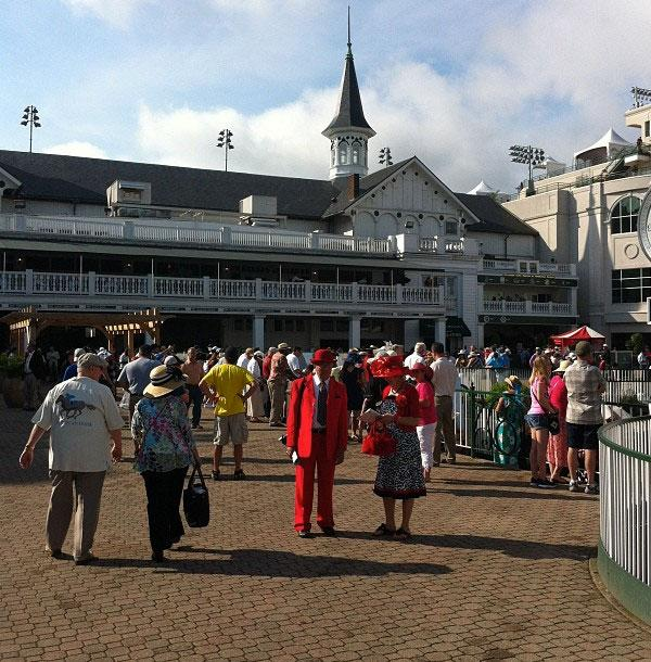 General view at the 138th Kentucky Derby horse race at Churchill Downs Saturday, May 5, 2012, in Louisville, Ky.