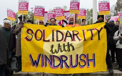 Activists, campaigners and trade unionists gathered outside Parliament in 2018 to call for restoring legal protections of the Windrush generation removed in the 2014 Immigration Act, an end to deportations and amnesty for those who came to the UK as minors - Credit: Wiktor Szymanowicz / Barcroft Images