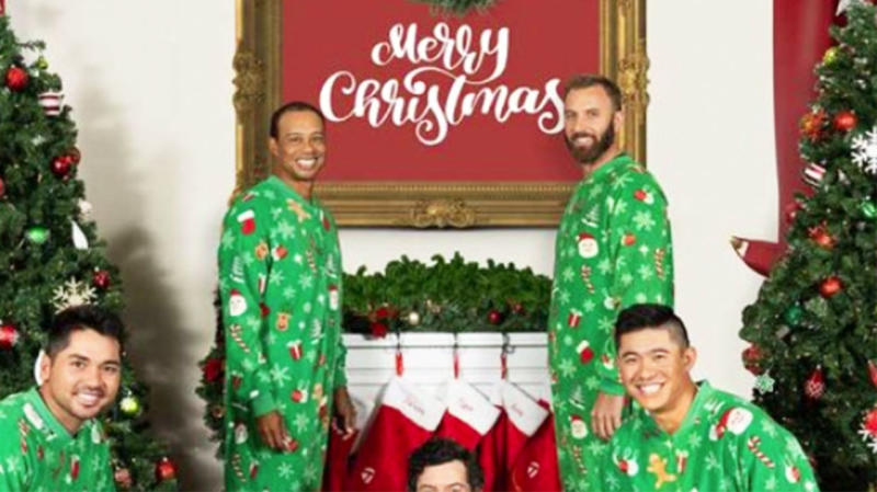 Tiger Woods starred alongside other fellow golfing stars in a Christmas ad for TaylorMade. (Image:TaylorMade)