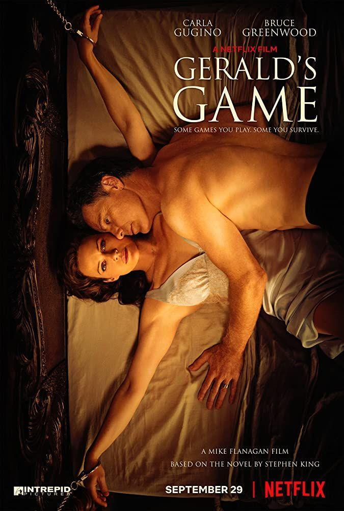 <p>Stuck in a house and handcuffed to a bed beside her dead husband, the psychological thriller begins. Another Stephen King adaptation. </p>