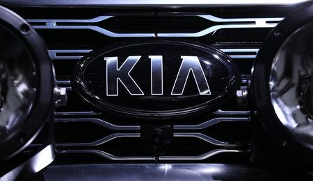 The Kia logo is seen on a vehicle at the North American International Auto Show in Detroit, Michigan, U.S., January 14, 2019. REUTERS/Jonathan Ernst