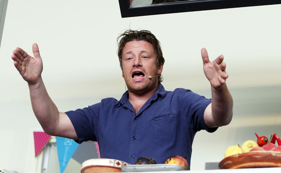 Jamie Oliver criticised police for their 'unimpressive' response when he reported his tractor had been stolen. (Steve Parsons/PA Images via Getty Images)