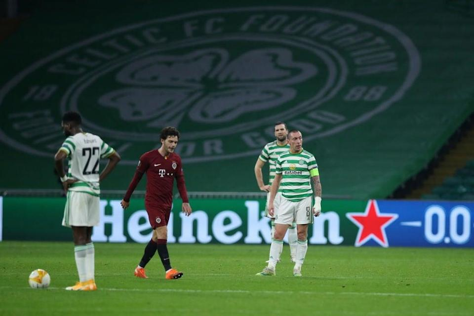 <p>Celtic celebrate scoring</p> (Getty Images)