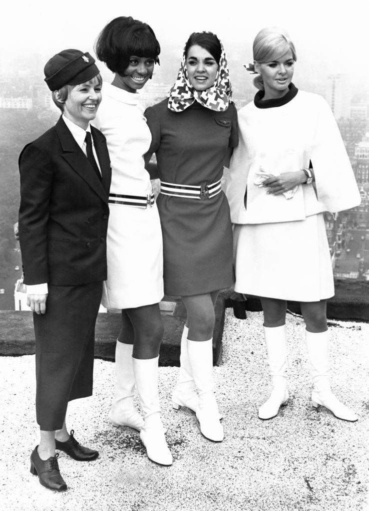 <p>In the 60s, flight attendants (and their uniforms) became the face of the airlines. </p>