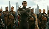 <p><span><strong>Played by:</strong> Chadwick Boseman</span><br><strong>Last appearance: </strong><i><span>Black Panther</span></i><br><span><strong>What's he up to?</strong> Having defeated Erik Killmonger, and any other challenges to the Wakandan throne, King T'Challa was last seen speaking at the UN and promusing to share his country's technology and provide economic support to third world countries.</span> </p>