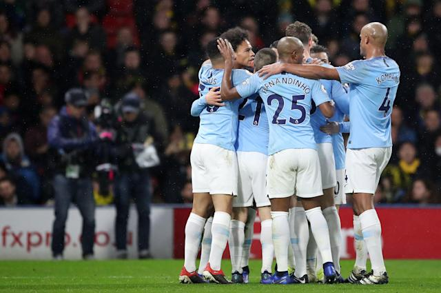 Manchester City are top of the Premier League (Nick Potts/PA)