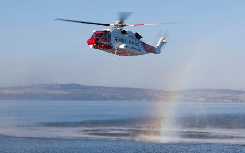 The UK Coastguard said it was coordinating a search operation in the Caernarfon Bay area of North Wales. - PA