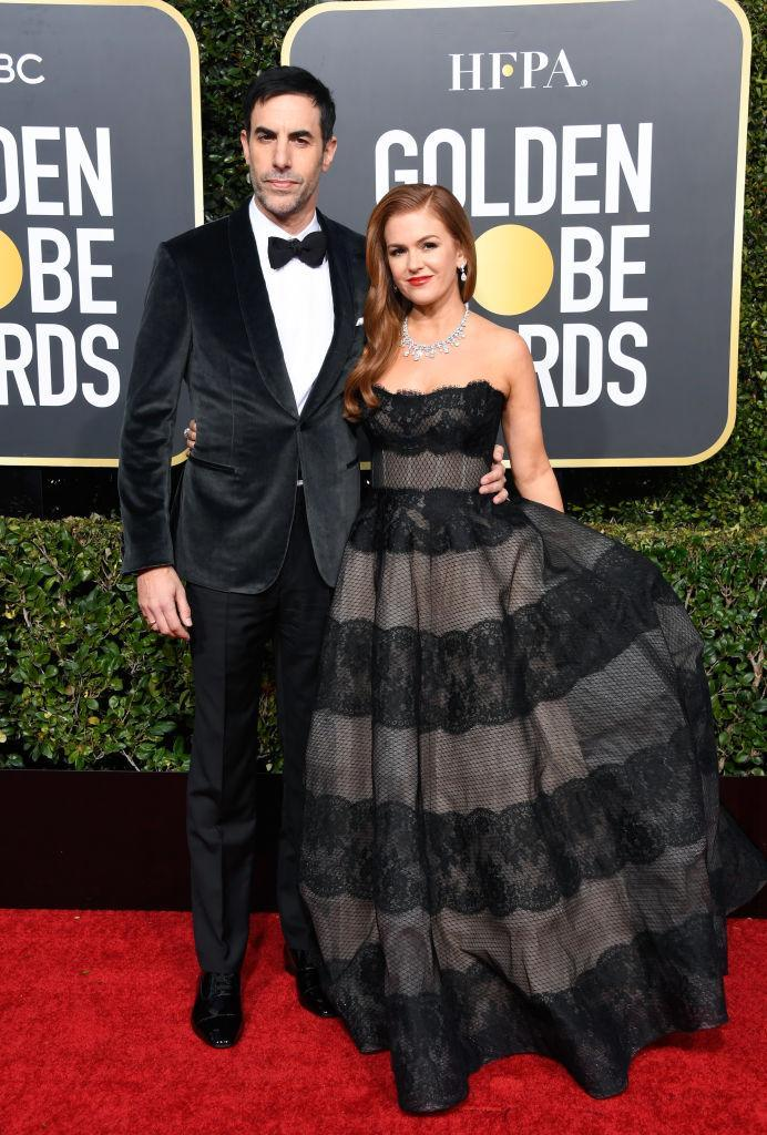 <p>Sacha Baron Cohen and Isla Fisher attend the 76th Annual Golden Globe Awards at the Beverly Hilton Hotel in Beverly Hills, Calif., on Jan. 6, 2019. (Photo: Getty Images) </p>