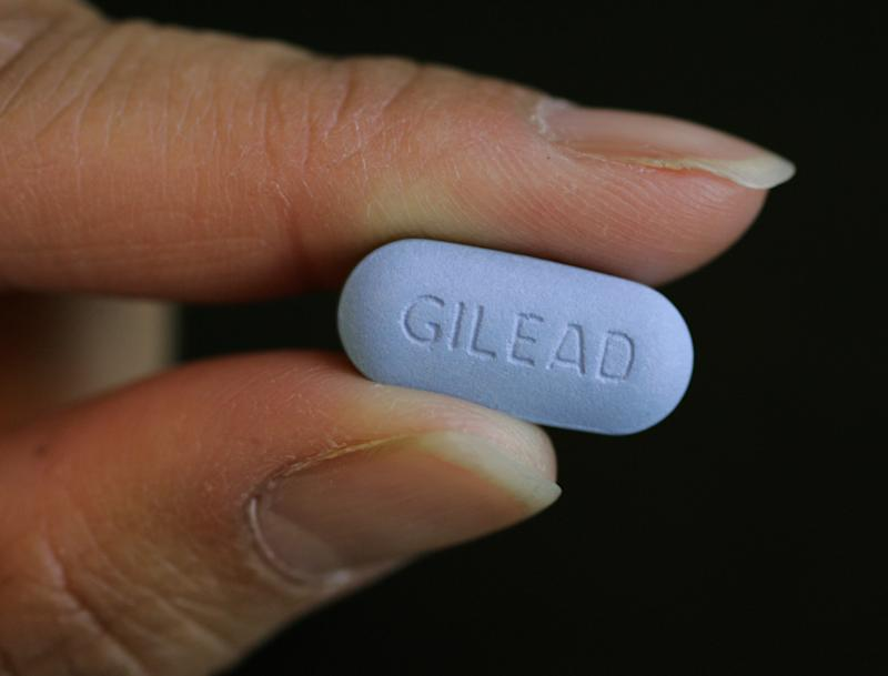 FILE - This May 26, 2006 file photo, shows a close up of Gilead Sciences Inc.'s Truvada pill in a lab in a Foster City, Calif. Scientists have an exciting breakthrough in the fight against AIDS. Daily doses of Truvada, a pill already used to treat infection with HIV, the virus that causes the disease, helped prevent healthy gay men from catching it through sex with an infected partner. In a study of gay and bisexual men in six countries, the pill, cut the risk of infection by 44 percent when given with condoms, counseling and other prevention services. Men who took their pills most faithfully, at least 90 percent of the time, had even more protection _ 73 percent. (AP Photo/Paul Sakuma, File)