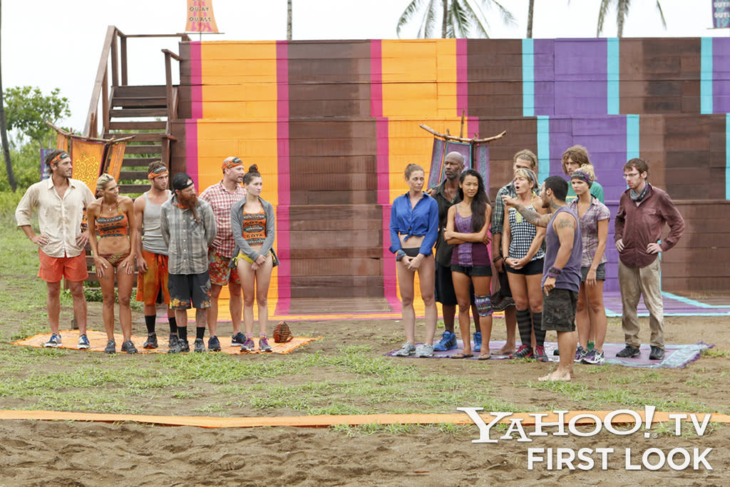 """""""The beginning of one of the most historic moments in Survivor history. If you look closely you can see Dawn already trying to control her emotions by breathing deeply. All of us watching knew this was the beginning of something big."""""""