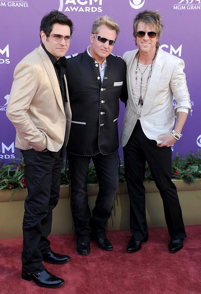"""Rascal Flatts is certainly a big name in country, but songs like """"Bless the Broken Road"""" and """"What Hurts the Most"""" are a hit with fans of all types of music! In fact, the group's Jay DeMarcus (left) takes credit for blazing a trail into mainstream stardom that Taylor Swift and others have been able to follow. """"Not to sound boastful ... but I think there was a movement that was started with us and Keith Urban, that paved the way for country to cross over a little more easily, with the pop-flavored country music that we know today,"""" he told <a target=""""_blank"""" href=""""http://www.theboot.com/2010/02/09/rascal-flatts-taylor-swift/"""">AOL's The Boot</a>."""