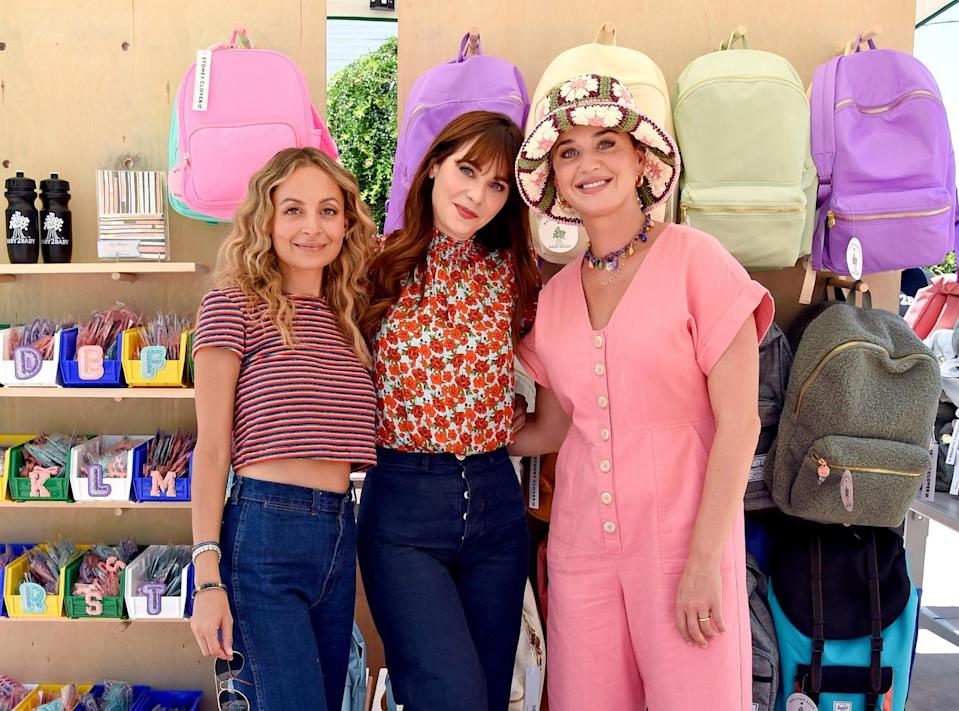 <p>Nicole Richie, Zooey Deschanel and Katy Perry attend Baby2Baby Back2School, presented by Stitch Fix Kids and Epic, on July 21 in L.A.</p>