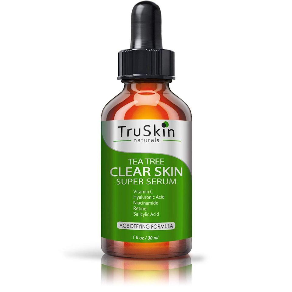"""<p><strong>TruSkin Naturals</strong></p><p>amazon.com</p><p><strong>$24.79</strong></p><p><a href=""""https://www.amazon.com/dp/B01CK695QG?tag=syn-yahoo-20&ascsubtag=%5Bartid%7C10051.g.37014835%5Bsrc%7Cyahoo-us"""" rel=""""nofollow noopener"""" target=""""_blank"""" data-ylk=""""slk:Shop Now"""" class=""""link rapid-noclick-resp"""">Shop Now</a></p><p>This serum is pumped with every acne-clearing ingredient known to man, including retinol, niacinamide, and salicylic acid. I would bathe in this serum if I could.</p>"""