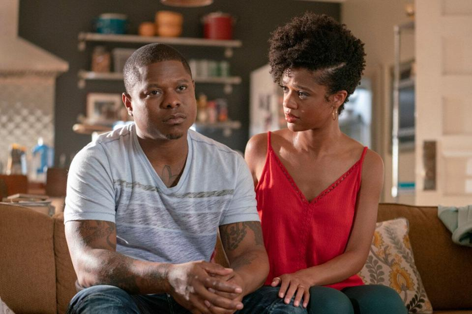 Jason Mitchell and Tiffany Boone in <i>The Chi</i> (Showtime)