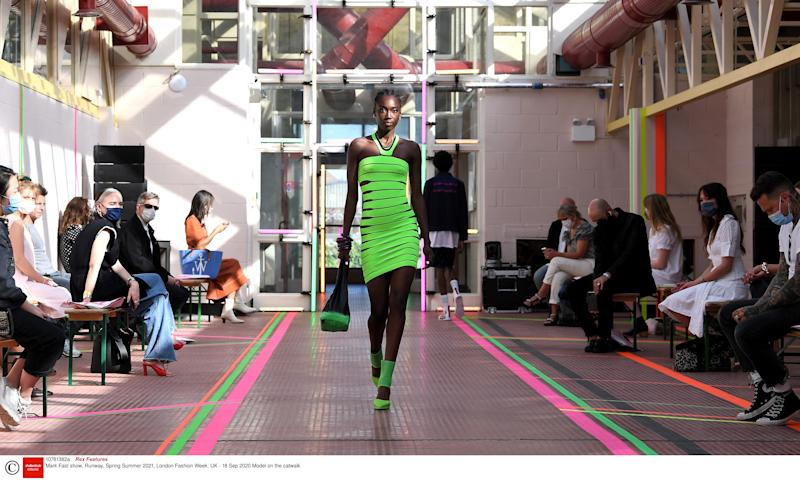 A model walks the runway at the Mark Fast SS21 London showRex Features