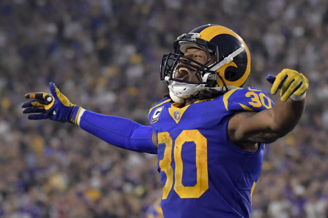 Todd Gurley and the Los Angeles Rams are averaging 35.0 points per game this season. (AP)