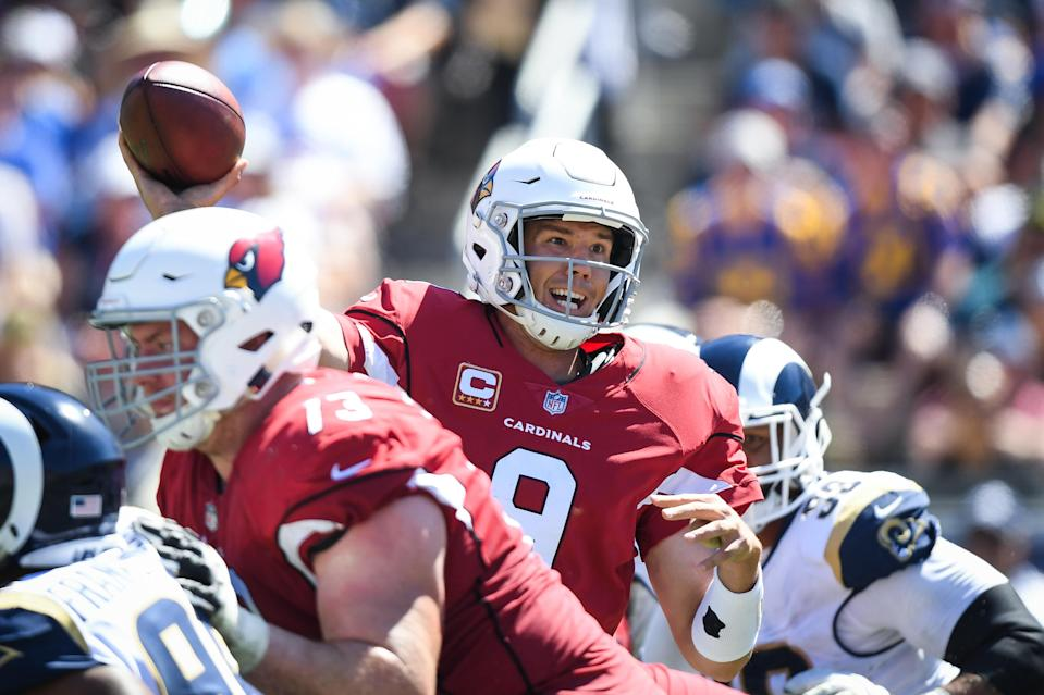 Sam Bradford went 17-of-27 for 90 yards and an interception in Sunday's blowout loss to the Rams. (Getty Images)