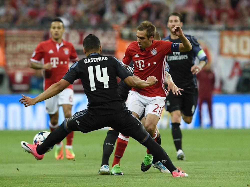 Lahm played his last game of Champions League football on Tuesday night (AFP/Getty)