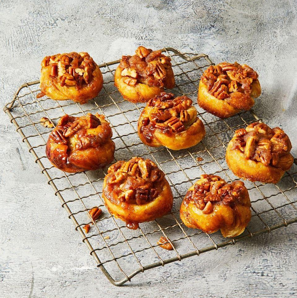 "<p>This stellar sweet uses store-bought puff pastry so you don't have to deal with any dough.</p><p><em><a href=""https://www.goodhousekeeping.com/food-recipes/a35353423/pecan-sticky-buns-recipe/"" rel=""nofollow noopener"" target=""_blank"" data-ylk=""slk:Get the recipe for Pecan Sticky Buns »"" class=""link rapid-noclick-resp"">Get the recipe for Pecan Sticky Buns »</a></em></p>"