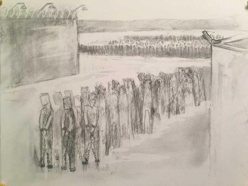 Former detainee draws a picture of what life was like inside the campsSimina Mistreanu / Roxi Pop