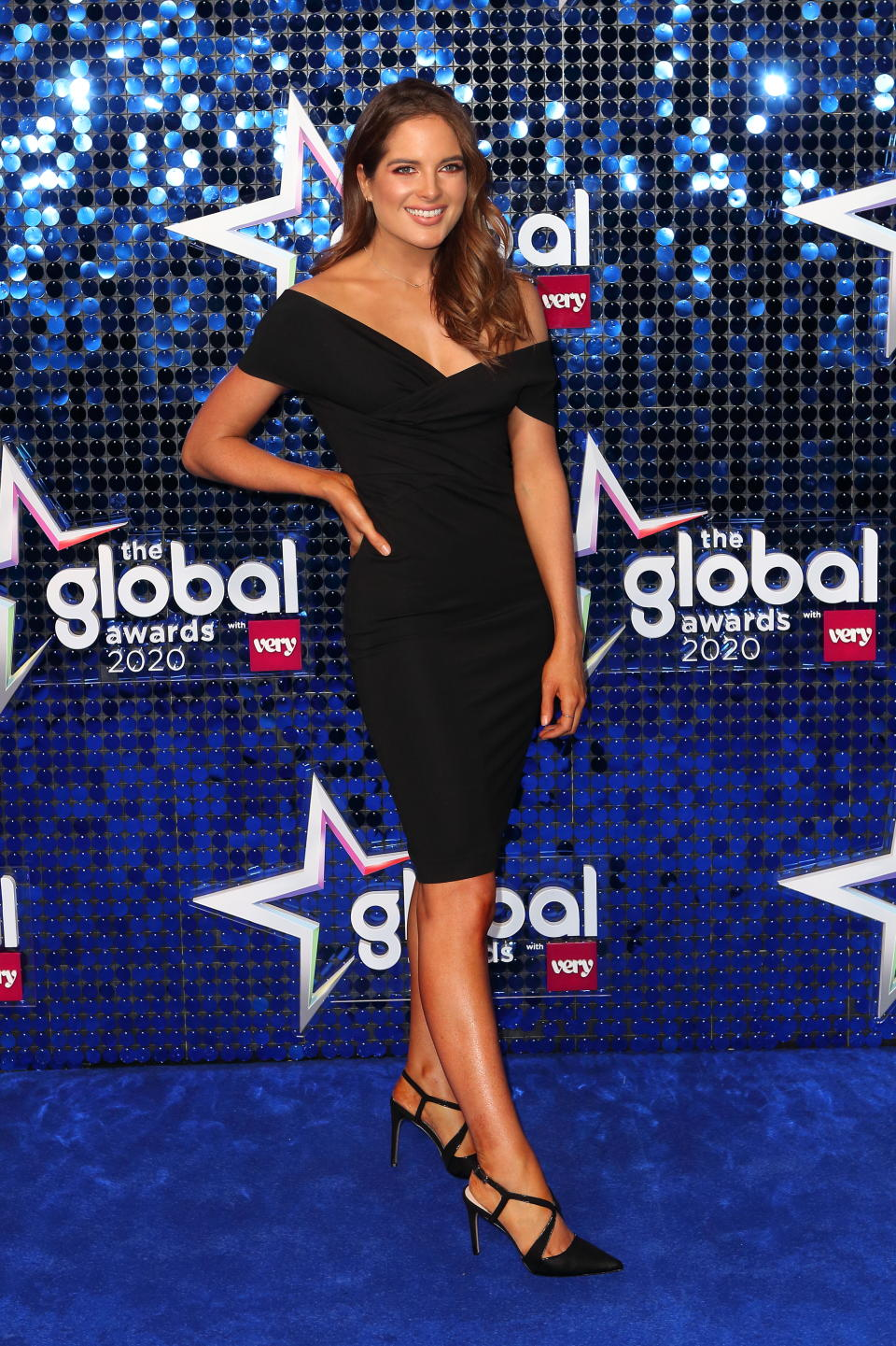 LONDON, UNITED KINGDOM - March 5, 2020 -  Binky Felstead arrives at the Global Awards 2020, Hammersmith Apollo, London UK- PHOTOGRAPH BY Jamy / Barcroft Studios / Future Publishing (Photo credit should read Jamy/Barcroft Media via Getty Images)