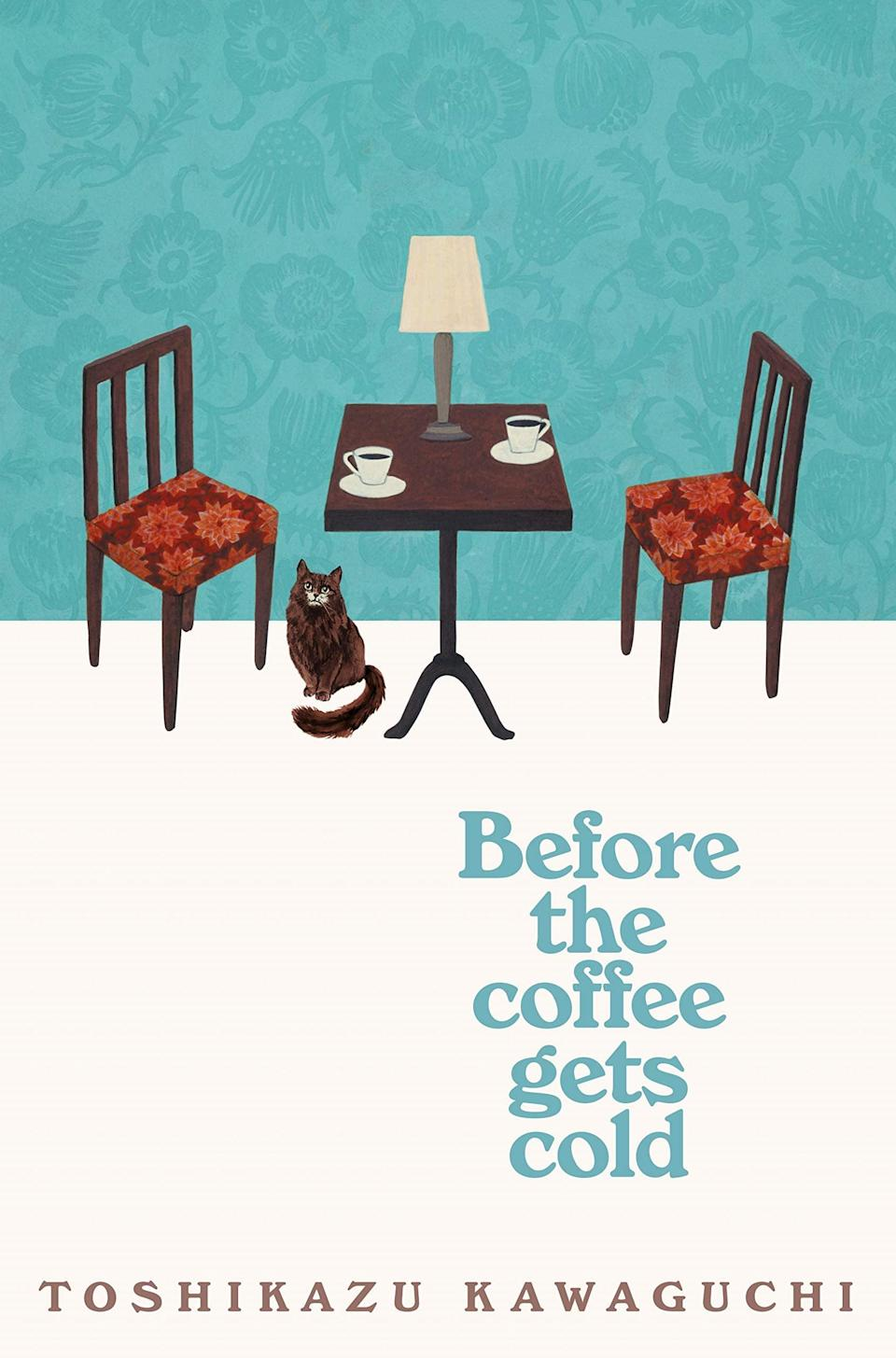 <p>Toshikazu Kawaguchi stages an age-old, thought-provoking question with a complex twist inside the novel <span><b>Before the Coffee Gets Cold</b></span>. This mysterious yet heartwarming read gives a glimpse toward the chance of time travel to explore the possibility of revisiting the past for as long as it takes for a cup of coffee to get cold.</p>