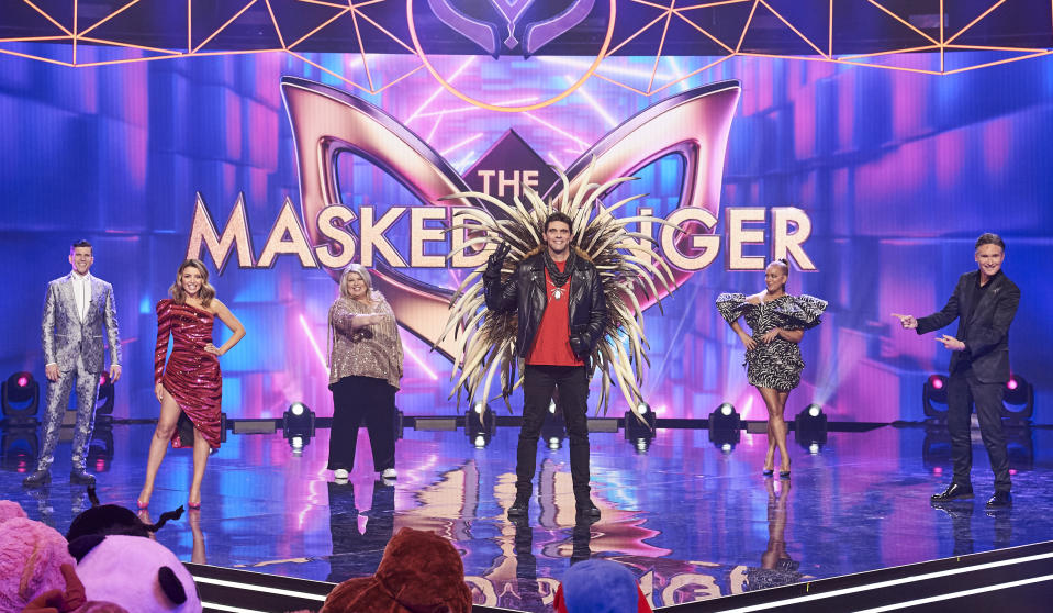 Mark Philippoussis unmasked as the Echidna on The Masked Singer