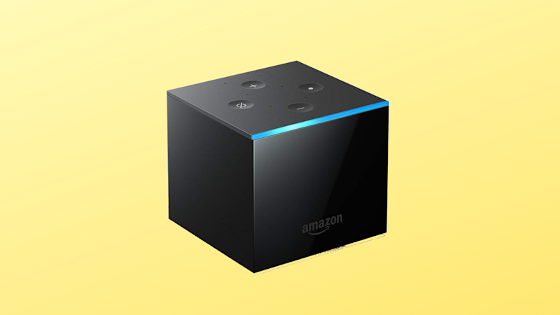 Fire TV Cube on yellow background (Photo: Amazon)