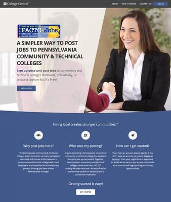 Pennsylvania employers seeking job-ready talent now have a FREE resource to post jobs: the Pennsylvania Community & Technical Colleges Jobs Consortium website, powered by College Central Network, Inc. (CCN).