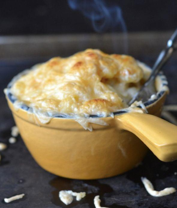 """<strong>Get the <a href=""""http://theviewfromgreatisland.com/2013/12/smokey-gouda-mac-cheese.html"""" target=""""_blank"""">Smokey Gouda Mac And Cheese recipe</a> from The View From The Great Island</strong>"""