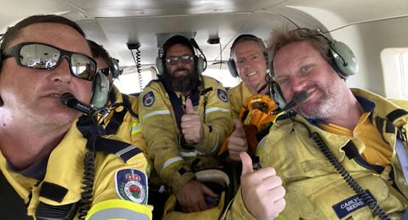NSW Rural Fire Services firefighters are pictured including Darren Carter.