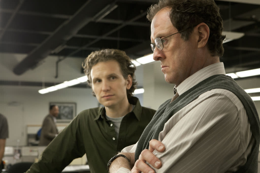 """Boris McGiver and Sebastian Arcelus in the """"House of Cards"""" Season 1 episode, """"Chapter 1."""""""