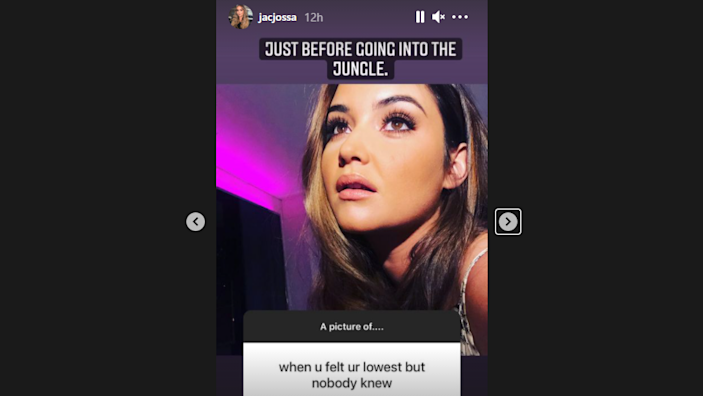 Screengrab from Jacqueline Jossa Instagram Stories